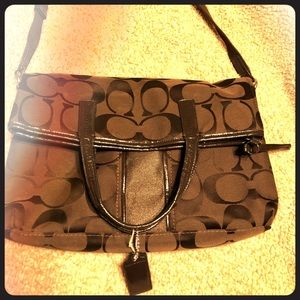 Coach fold over purse